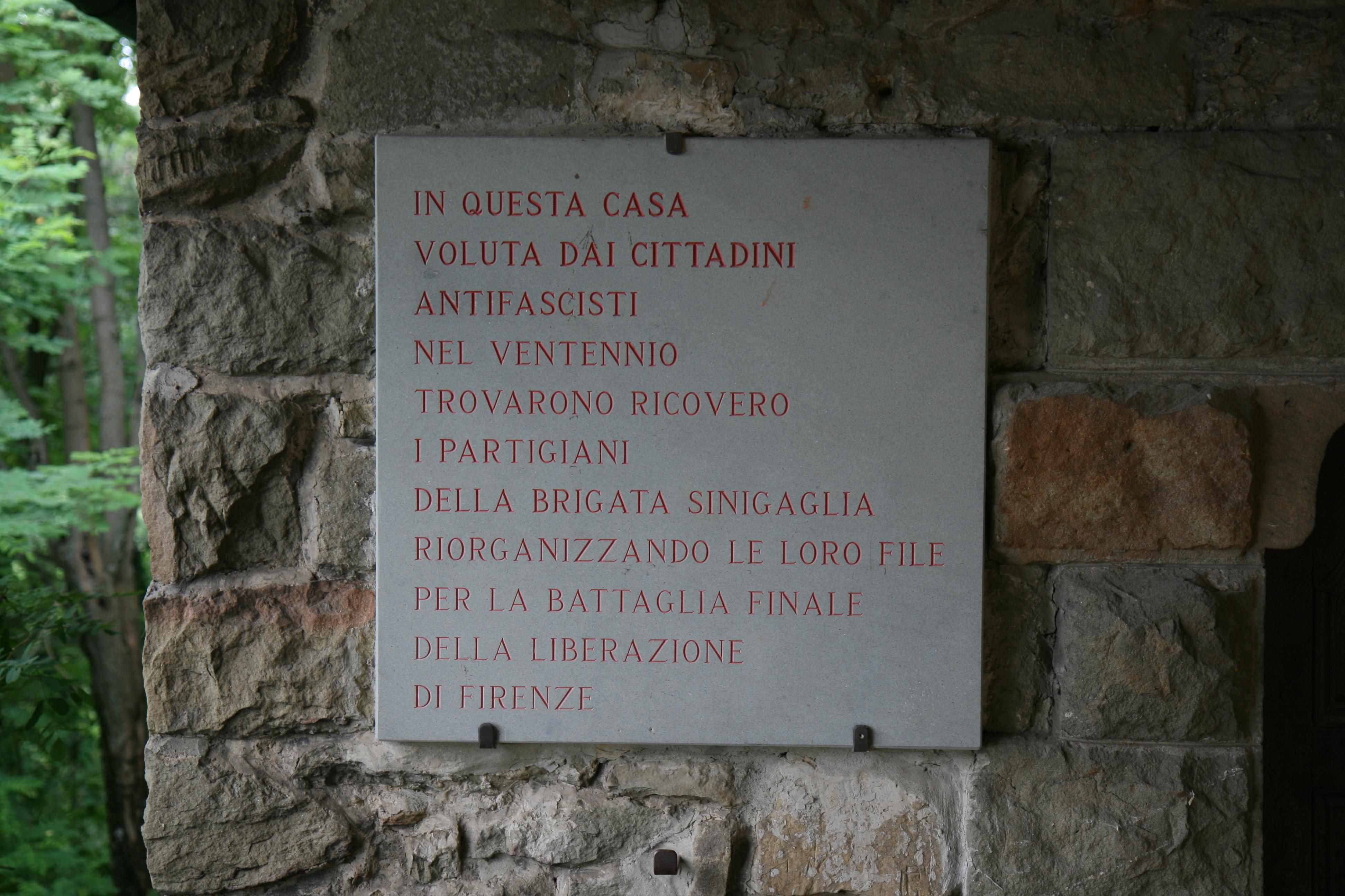 Resistenza toscana lapide di fonte santa bagno a for Bagno a ripoli fi